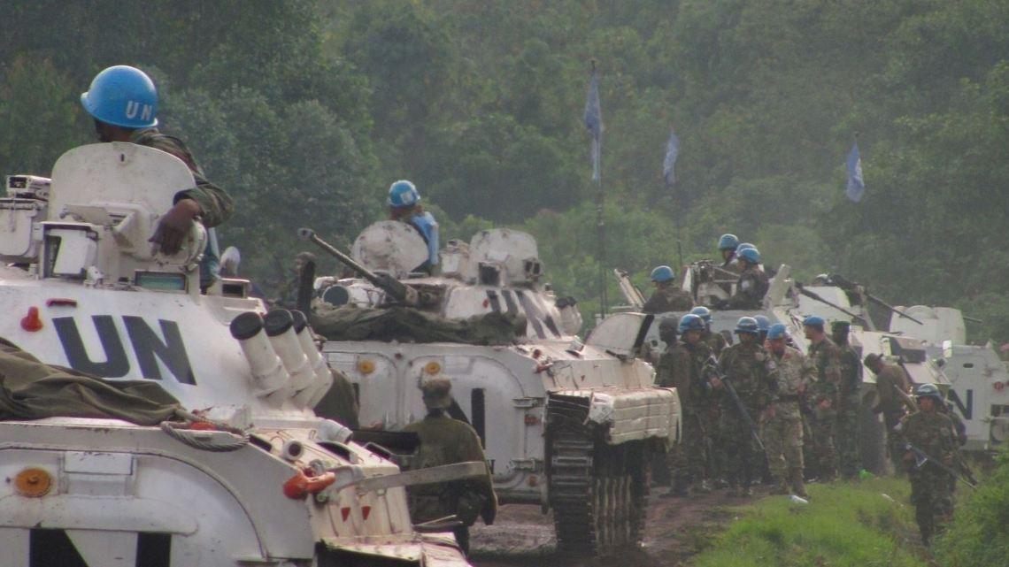 Casques bleus de la MONUSCO sur la dernière ligne de défense près de Goma. Photo MONUSCO.