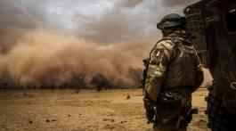 Soldat français de la force Barkhane. Crédit : EMA.