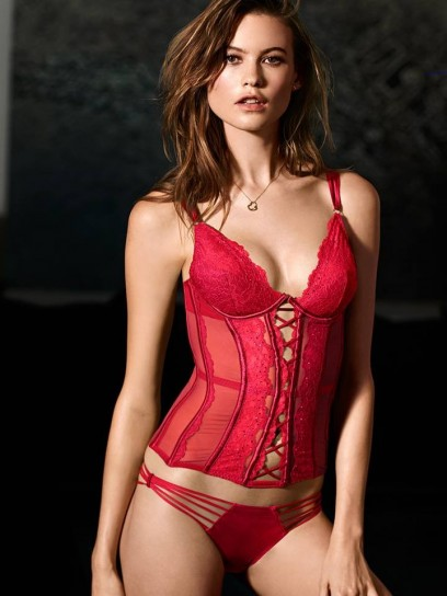 bustier-rosso