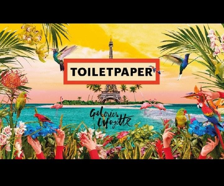 TOILETPAPER approda a Les Galerie Lafayette