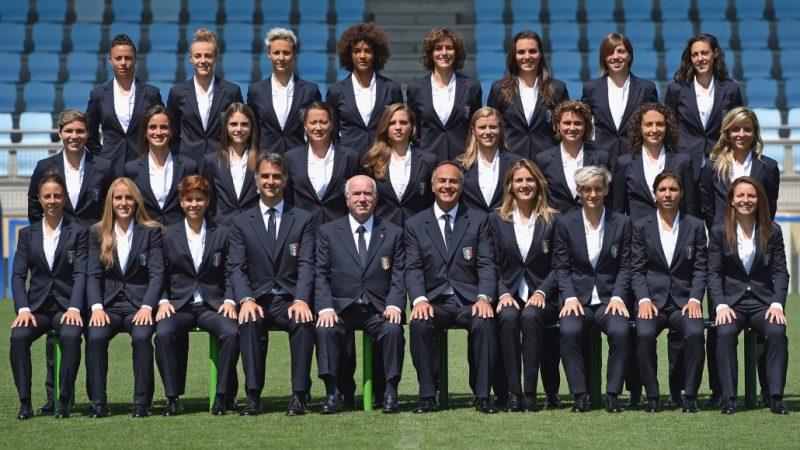 La Nazionale di calcio femminile firmata Scervino