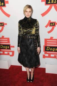 Greta Gerwig in Proenza Schouler all'Isle Of Dogs' Screening, New York