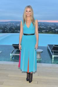 Gwyneth Paltrow in Carolina Herrera e scarpe Jimmy Choes al The Hollywood Reporter And Jimmy Choo Power Stylists Dinner, Los Angeles