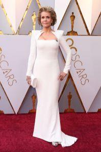 Jane Fonda in Balmain agli Oscars 2018, LA