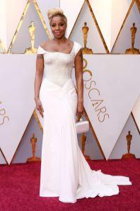 Mary J Blige in Atelier Versace agli Oscars 2018, LA