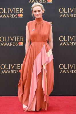 Anne Marie Duff in Roskanda agli Olivier Awards, London