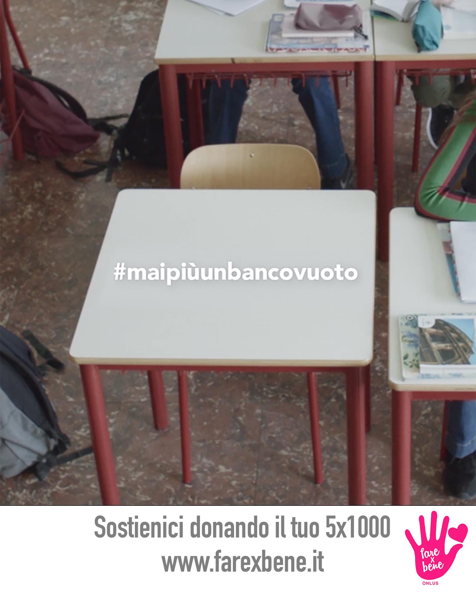 #maipiùunbancovuoto, la campagna di FARE X BENE Onlus contro il cyberbullismo