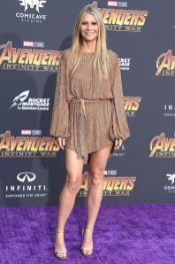 Gwyneth Paltrow in Retrofete all''Avengers Infinity War' premiere, Los Angeles