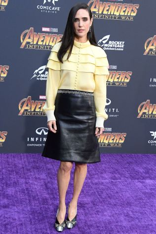 Jennifer Connelly in Louis Vuitton all''Avengers Infinity War' premiere, Los Angeles