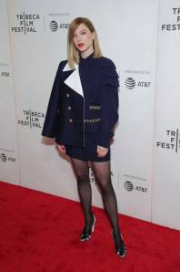 Léa Seydoux in Louis Vuitton alla 'Zoe' screening, Tribeca Film Festival, New York