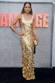 Naomi Harris in Miu Miu alla 'Rampage' premiere, California