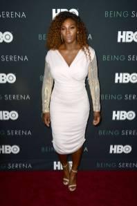 Serena Williams in Tom Ford alla 'Being Serena' premiere, New York