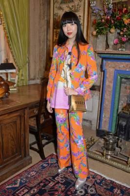 Susie Lau in Gucci alla #GucciHallucination dinner, London