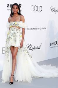 Cindy Bruna in Giambattista Valli all'amfAR Gala, Cannes