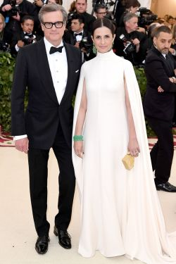 Colin e Livia Firth in Giambattista Valli al Met Gala 2018