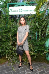 Aimee Song in Dior al Welcome Dinner di Christian Dior Couture S/S 2019 Cruise Collection, Paris