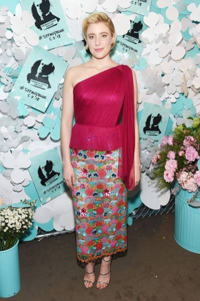 Greta Gerwig al Tiffany & Co Paper Flowers Event And Believe In Dreams Campaign Launch, New York