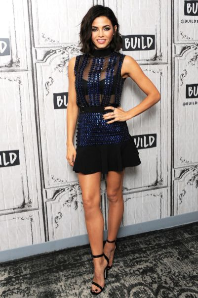 Jenna Dewan in David Koma e sandali Stuart Weitzman al World of Dance at Build Studio, New York