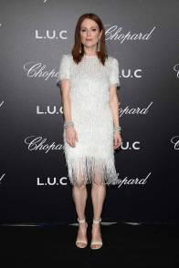 Julianne Moore in Givenchy e gioielli Chopard al Chopard Gentleman's Night, Cannes Film Festival