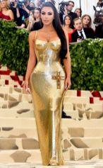 Kim Kardashian in vintage Versace al Met Gala 2018