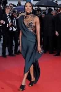 Naomi Campbell in Poiret al Cannes film Festival
