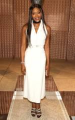 Naomie Campbell in Alaia all'Azzedine Alaïa The Couturier opening party, Design Museum