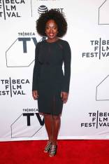Viola Davis in Pamella Roland al 'The Last Defense' screening at Tribeca film Festival, New York