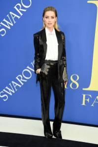 Amber Heard in Michael Kors ai CFDA Awards 2018