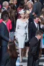 Angelina Jolie in Ralph & Russo all'A service marking the Most Distinguished Order Of St George, London -