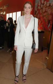 Eleanor Tomlinson in BOSS al 'Michael Jackson On The Wall' private view sponsored by Hugo Boss, London