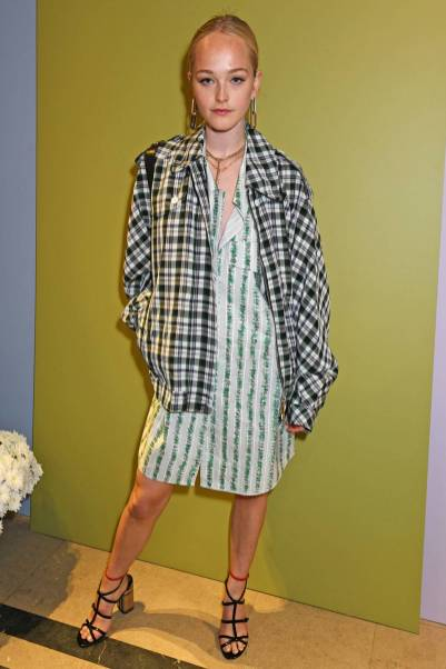 Jean Campbell al Burberry party, London