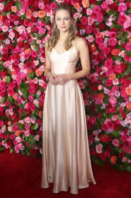 Melissa Benoist in Dior ai 72nd Annual Tony Awards, New York