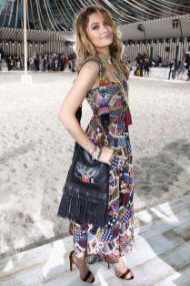 Paris Jackson in Dior e sandali Jimmy CHoo alla sfilata Dior Cruise, Chantilly