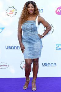 Serena Williams con un abito della sua collezione al Tennis On The Thames event, London