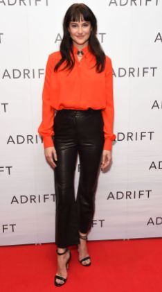 Shailene Woodley in Altuzarra alla screening of new film Adrift at the Soho Hotel, London