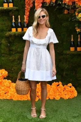 Sienna Miller in Valentino al 11th Annual Veuve Clicquot Polo Classic, Jersey City