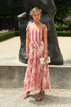 AMELIA WINDSOR in Dior Couture al Dior Haute Couture AW18 show, Paris