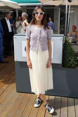 Alexa Chung al Polo Ralph Lauren and British Vogue dinner, Wimbledon