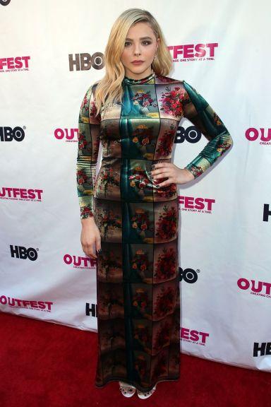 Chloë Grace Moretz in Stella McCartney al LGBT Film Festival, Los Angeles.