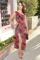 Emmy Rossum in Carolina Herrera al Beats by Dre and Violet Grey party,California.