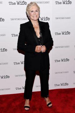Glenn Close alla creening of The Wife, NY