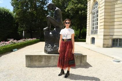 MANDY MOORE in Dior Couture al Dior Haute Couture AW18 show, Paris