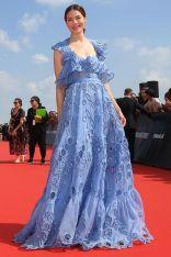Michelle Monaghan in Valentino alla premiere of Mission Impossible - Fallout, Paris