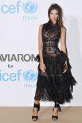 Emily Ratajkowski in Oscar de la Renta all'Unicef Summer Gala, Italy.