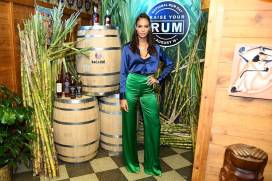 Joan Smalls al Raise Your Rum on National Rum Day With BACARDI Rum