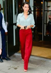 Mila Kunis in Victoria Beckham, NY
