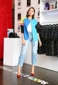 Olivia Culpo all'AWAYTOMARS x Froot Loops capsule collection, New York