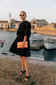 Pernille Teisbaek in Cecilie Bahnsen alla Net-A-Porter X Social Zoo 'Fashion Family' dinner, Copenhagen