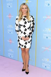 Reese Witherspoon in Monique Lhuillier al 'Shine On With Reese' launch with AT&T and Hello Sunshine, Los Angeles