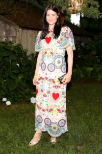 Tabitha Simmons in Dolce & Gabbana al Net-A-Porter x GOOD+ Foundation summer dinner, the Hamptons